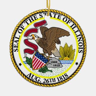 Seal of Illinois Round Ceramic Decoration