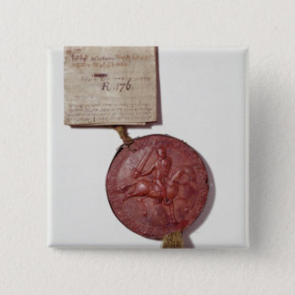 Seal of King Richard I 15 Cm Square Badge