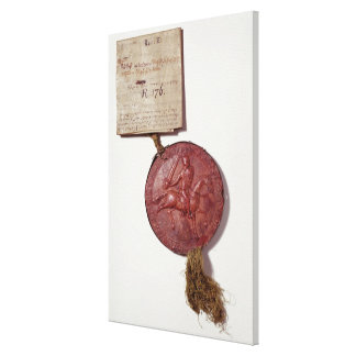 Seal of King Richard I Canvas Print