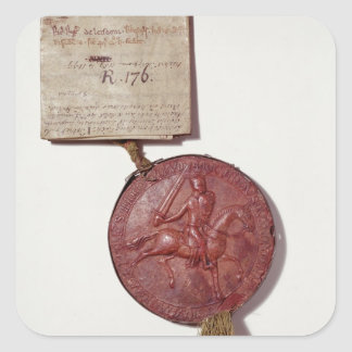Seal of King Richard I Square Sticker
