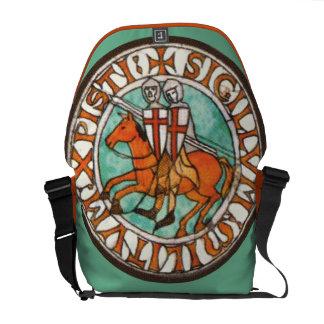 Seal of Knights Templar Messenger Bags