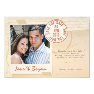 Seal of Love - Save the Date Card 13 Cm X 18 Cm Invitation Card