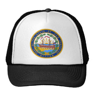 SEAL OF NEW HAMPSHIRE TRUCKER HATS