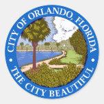 Seal of Orlando, Florida Round Sticker