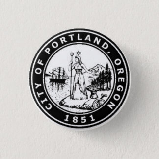 Seal of Portland, Oregon 3 Cm Round Badge