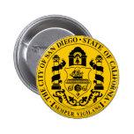 Seal of San Diego, California 6 Cm Round Badge