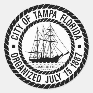 Seal of Tampa, Florida Round Sticker