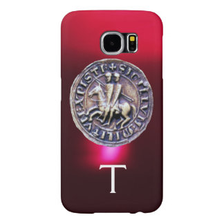 SEAL OF THE KNIGHTS TEMPLAR MONOGRAM burgundy