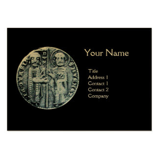 SEAL OF THE KNIGHTS TEMPLAR MONOGRAM gold Business Cards