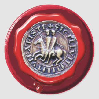 SEAL OF THE KNIGHTS TEMPLAR RED WAX SEAL STICKERS