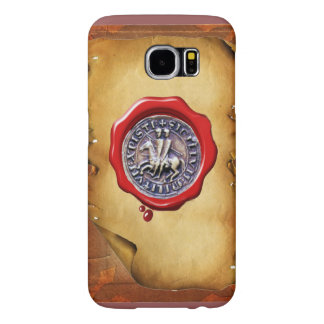 SEAL OF THE KNIGHTS TEMPLAR wax parchment Samsung Galaxy S6 Cases