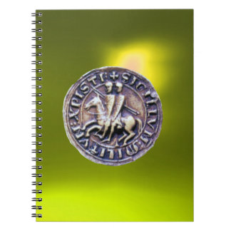 SEAL OF THE KNIGHTS TEMPLAR yellow Note Books