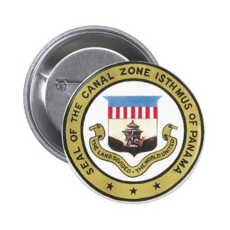 SEAL OF THE PANAMA CANAL ZONE 6 CM ROUND BADGE