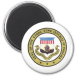 SEAL OF THE PANAMA CANAL ZONE FRIDGE MAGNETS