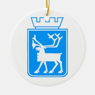 Seal of Tromso, Norway. Round Ceramic Decoration