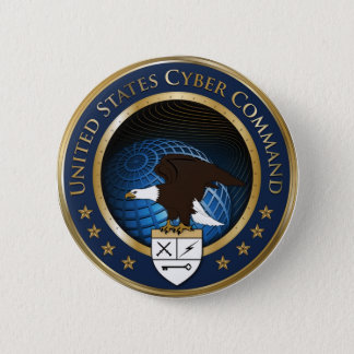 Seal of US Cyber Command 6 Cm Round Badge