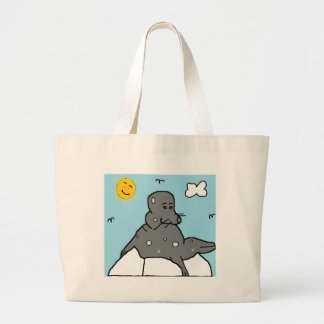seal on ice canvas bags