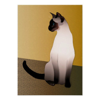 Seal Point Siamese Cat Posters