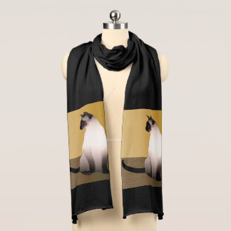 Seal Point Siamese Cat Scarf