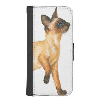 seal point siamese kitten phone wallet case