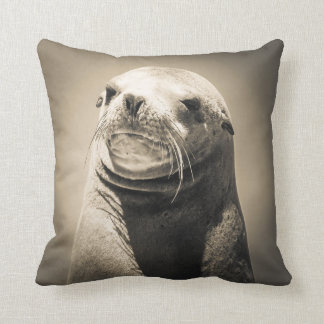 Seal portrait cushion