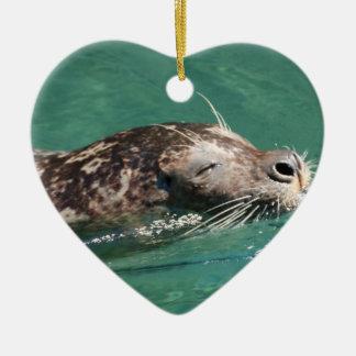 Seal Swimming Ornament