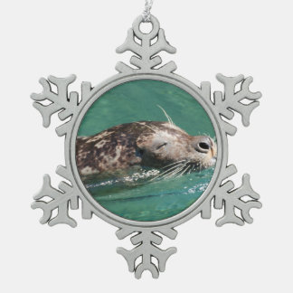 Seal Swimming Ornaments