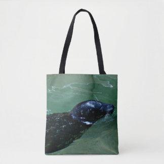 Seal swimming tote bag
