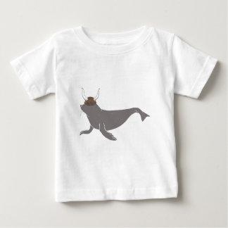 Seal Viking Illustration Baby T-Shirt