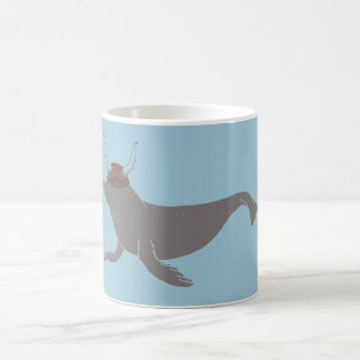 Seal Viking Illustration Coffee Mug