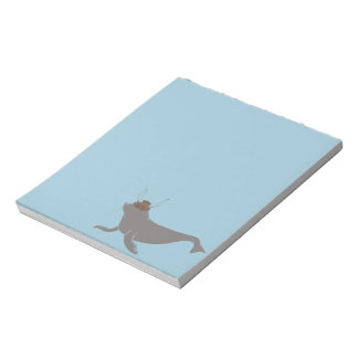 Seal Viking Illustration Notepad