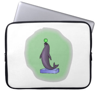 Seal With Ball Laptop Computer Sleeve