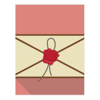 Sealed Envelope Vector Postcard