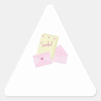 Sealed Stationary Triangle Sticker