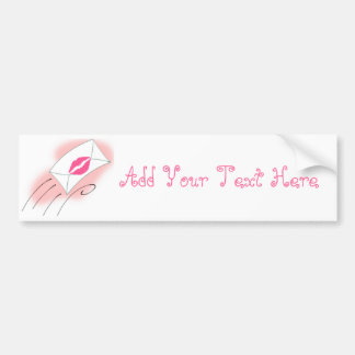 Sealed With A Kiss Car Bumper Sticker
