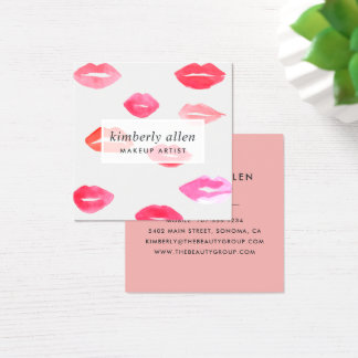 Sealed with a Kiss | Makeup Artist Square Business Card