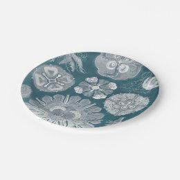 Blueprint plates zazzle sealife blueprint iv paper plate malvernweather Image collections