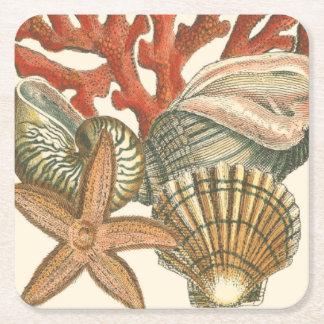 Sealife Collection Square Paper Coaster