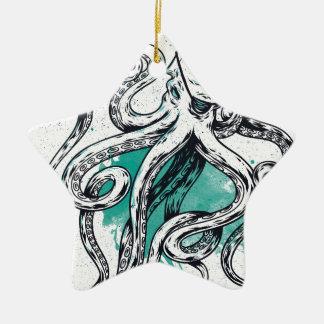 Sealife Octopus Ceramic Star Decoration