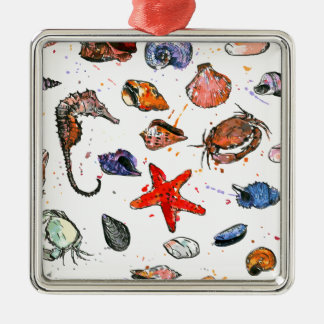 Sealife's Watercolors Christmas Ornament