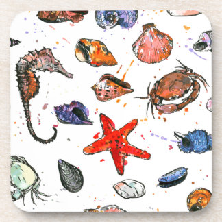 Sealife's Watercolors Coaster