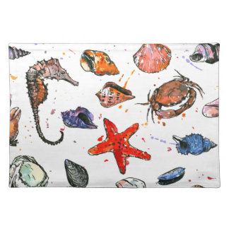 Sealife's Watercolors Placemat