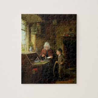 Sealing a Letter, 1890 (oil on panel) Jigsaw Puzzle