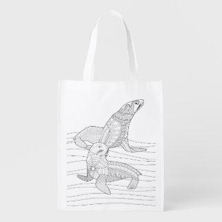 Seals Adult Coloring Bag