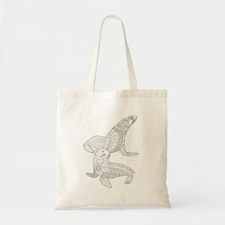 Seals Adult Coloring Tote Bag