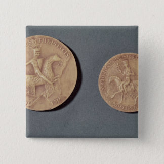 Seals of Charles I  of Anjou 15 Cm Square Badge