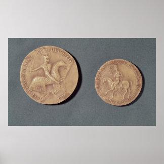 Seals of Charles I  of Anjou Poster