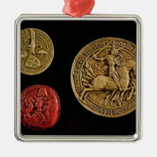 Seals of Gilles de Laval  Lord of Rais Christmas Ornament