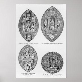 Seals of the Universities Poster