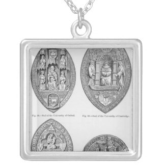 Seals of the Universities Silver Plated Necklace